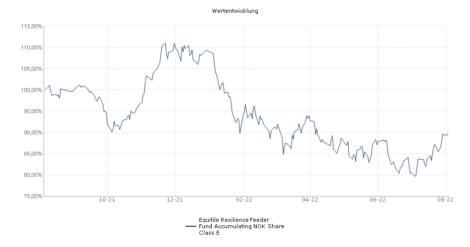 Equitile Resilience Feeder Fund Accumulating NOK Share Class E Fonds Performance