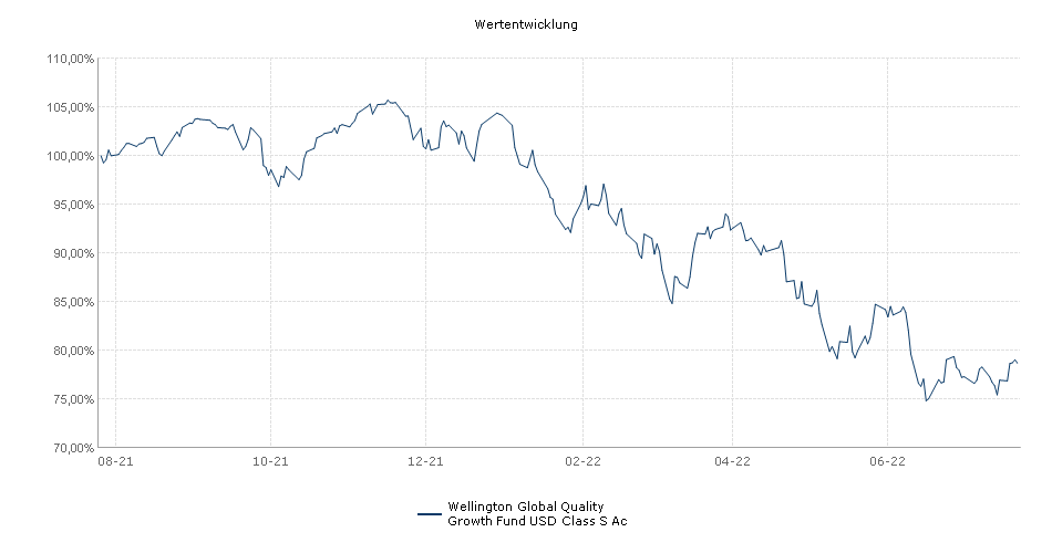 Wellington Global Quality Growth Fund USD Class S Accumulating Unhedged Fonds Performance