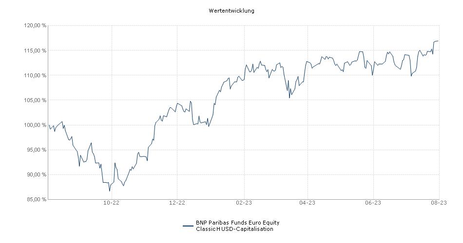 BNP Paribas Funds Euro Equity Classic H USD-Capitalisation Fonds Performance