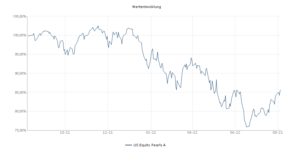 US Equity Pearls A Fonds Performance