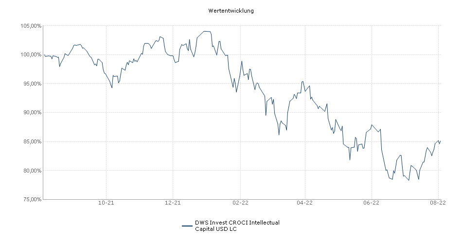 DWS Invest CROCI Intellectual Capital USD LC Fonds Performance
