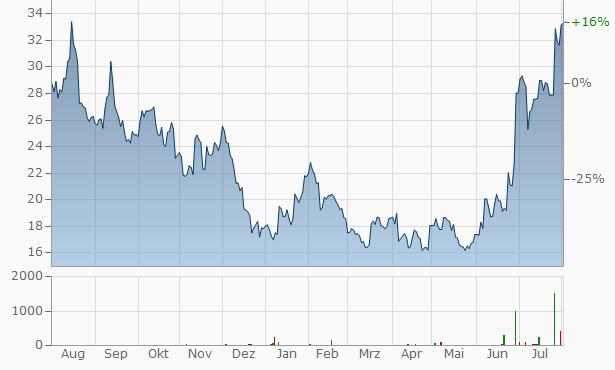 Overstock.com Chart